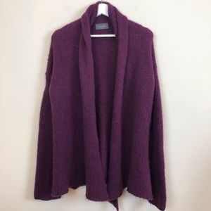 Anthropologie Wooden Ships Purple Cardigan